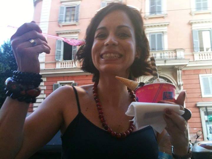 yo cumpliendo la dieta del helado en ROMA