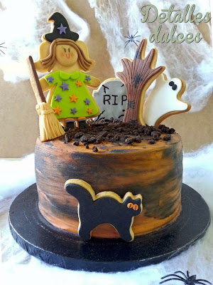 Tarta de Detalles dulces para el reto de Halloween