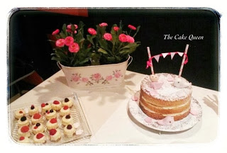 La mesa rosa para el bautizo de Alba