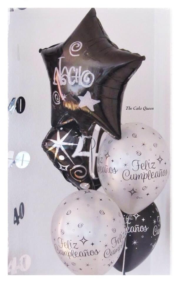 Globos decorativos para celebrar el 40 cumpleaños de Nacho