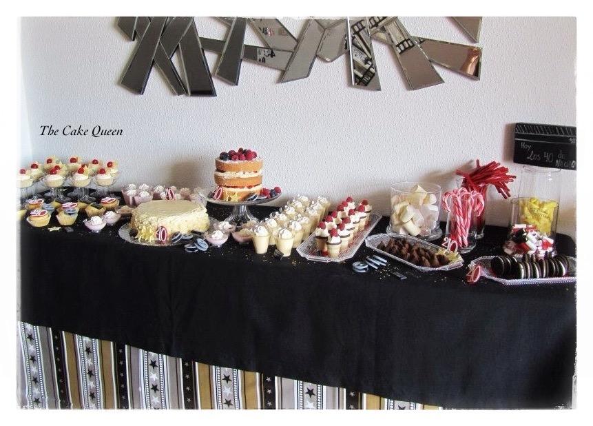Mesa dulce para celebrar el 40 cumpleaños de Nacho
