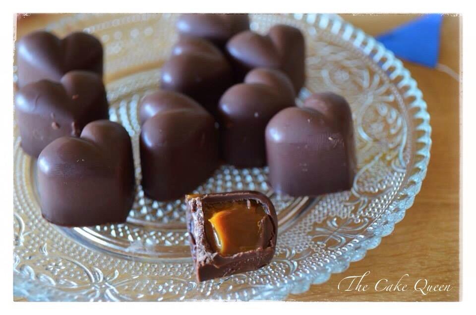 Bombones rellenos de dulce de leche, chocolate y dulce de leche juntos, una verdadera maravilla
