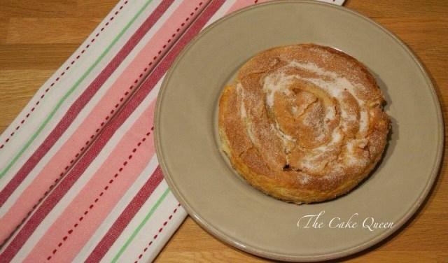 Pastel de calabaza búlgaro, vista cenital de esta delicia