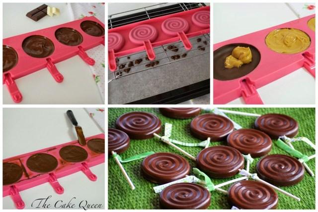 Piruletas de bizcocho y chocolate: paso a paso de las piruletas de chocolate