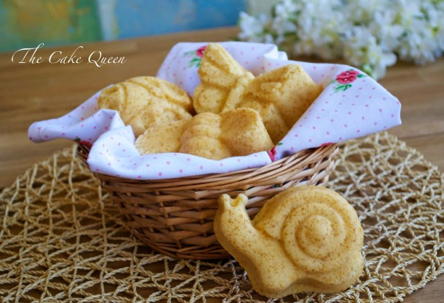 Mini garden cakes de limón y fruta de la pasión