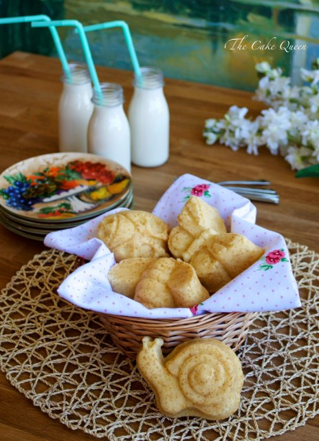 Mini garden cakes de limón y fruta de la pasión, moja tus mini cakes en leche, ñam