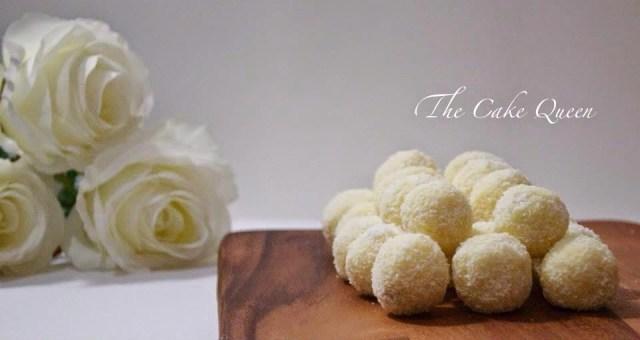 Bombones de coco, unas trufas muy ricas y delicadas