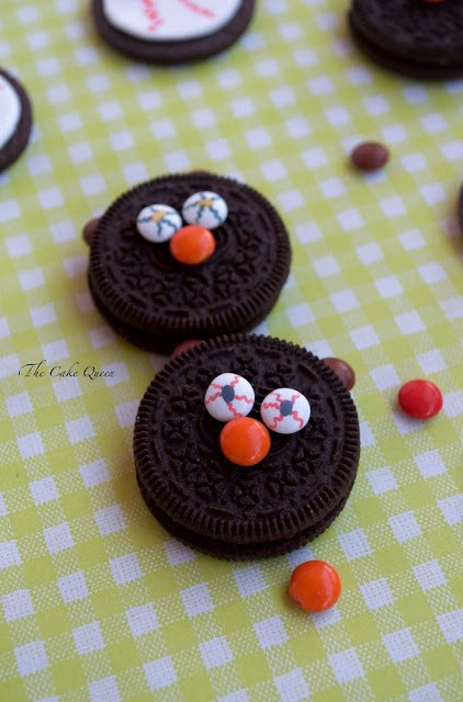 Ideas para Halloween con mini lacasitos: Galletas terroríficas