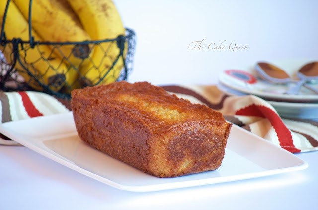 Bizcocho griego de plátano, este es un loaf cake precioso, con un aroma maravilloso a plátano
