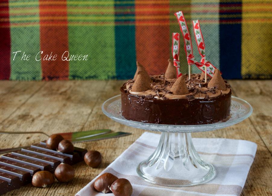 Tarta de castañas y chocolate de leche, una verdadera delicia