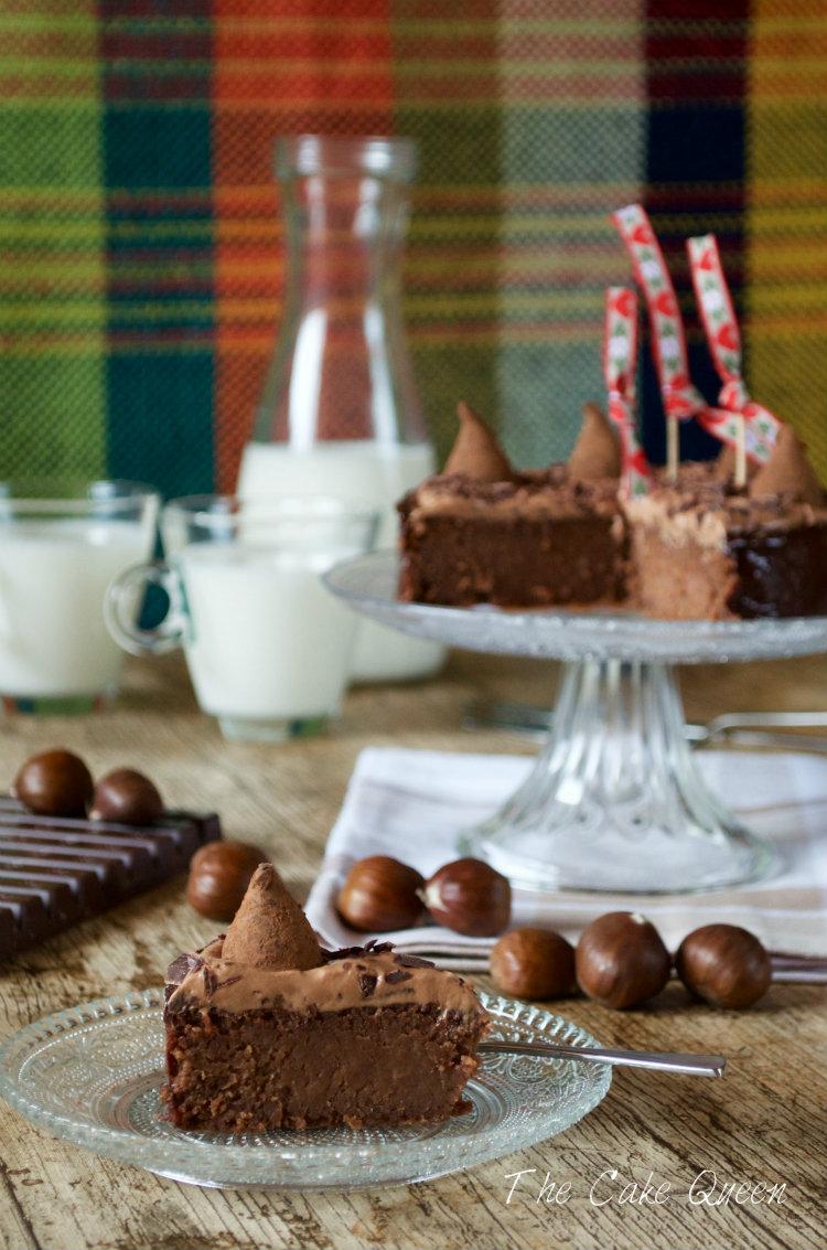 Tarta de castañas y chocolate de leche, muy rica y sencilla de elaborar