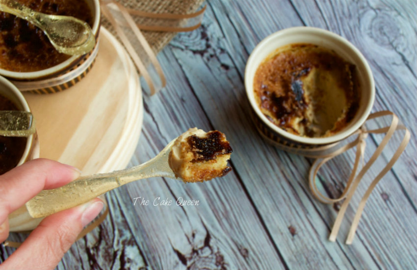 Crème Brulée de Chai Vainilla, un postre delicioso