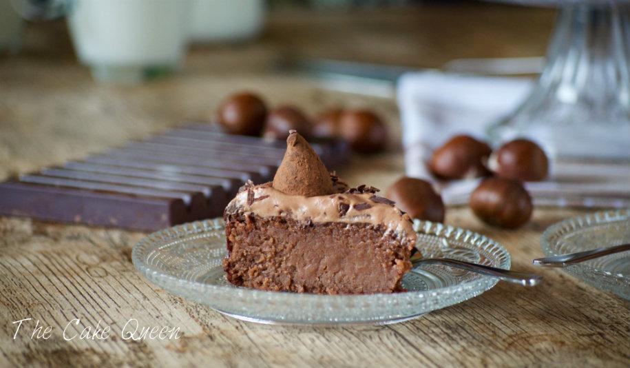 Tarta de castañas y chocolate de leche, un trozo que conquistará el corazón de quienes la prueben