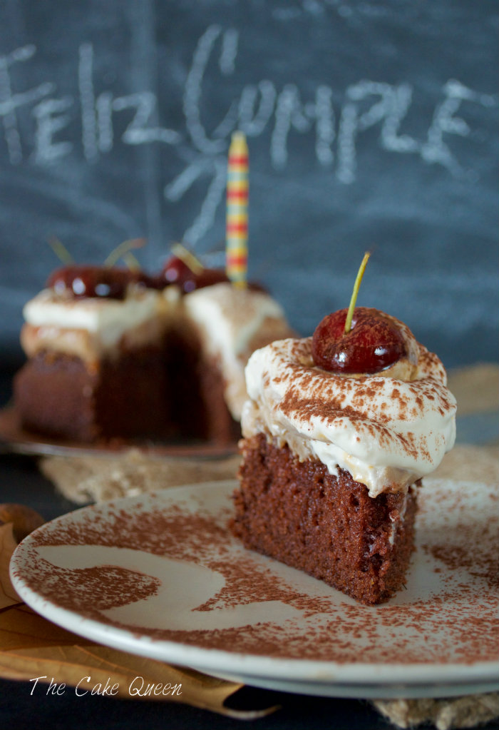Tarta de mousse de castañas y ron, un trocito de esta tarta!!!
