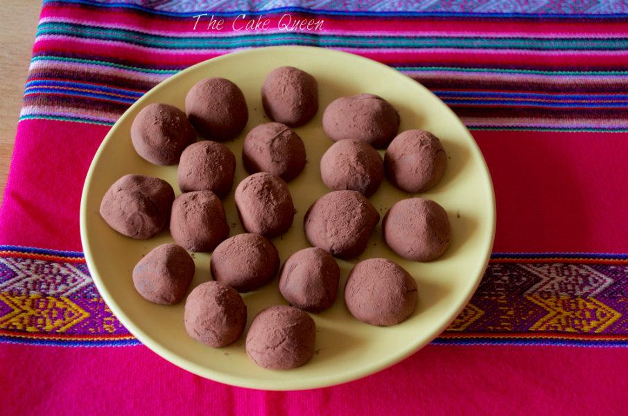 Trufas de chocolate para veganos