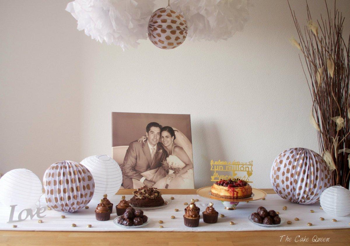 Mini mesa dulce para celebrar mi 10mo. año de boda