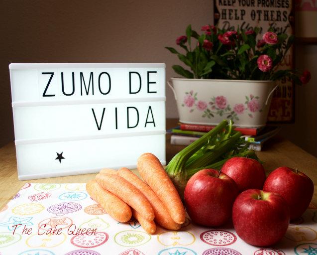 Zumo de vida: zanahoria, apio y manzana