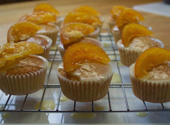 Cupcakes de naranjas confitadas