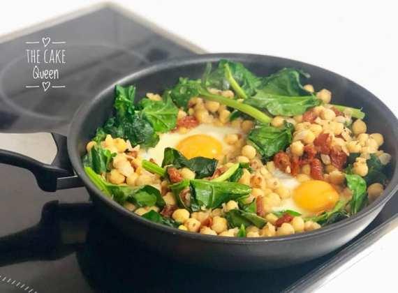 garbanzos con huevos y espinacas 1