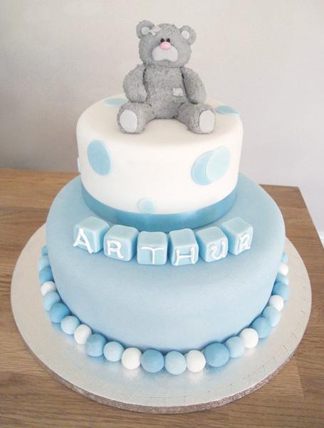 Teddy Christening Cake