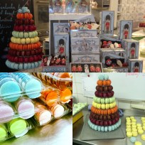 Macaron shop displays