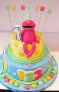 Elmo First Birthday Cake