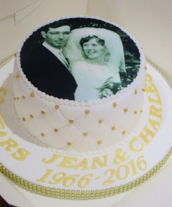 50th wedding anniversary photo cake