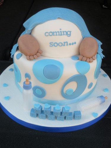 Afro baby nappy baby shower cake