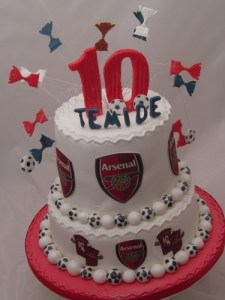 Arsenal 2-Tier cake