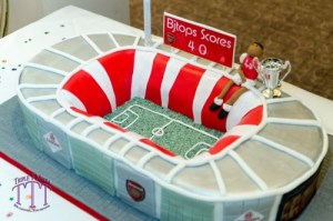3D Arsenal Stadium Birthday Cake