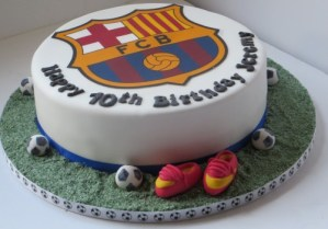 Barcelona Football Club cake