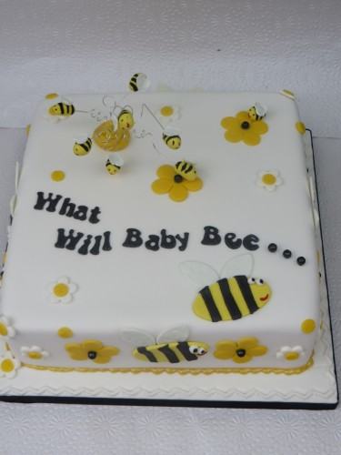 Bee Themed Baby Shower Cake