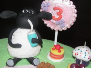 Timmy the Sheep cake topper