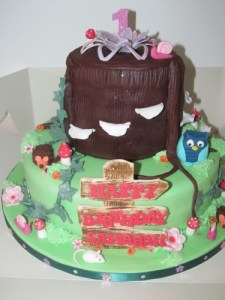 Enchanted Tree Stump Cake