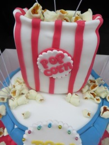 Popcorn Bag Cake Topper
