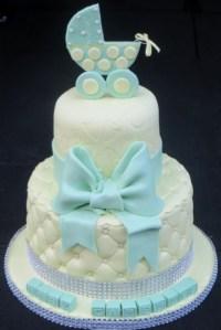 Baby pram topper Shower cake