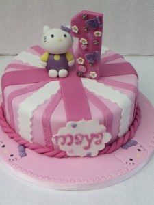 Hello Kitty 1st Birthday Cake