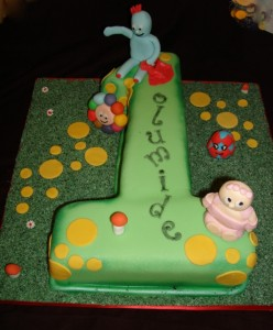 In the NIght Garden Number 1 Cake
