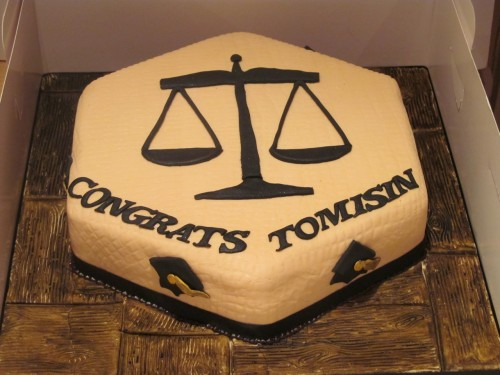 Scales of Justice Law Graduation Cake