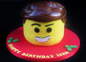 Lego Movie Emmet Birthday Cake