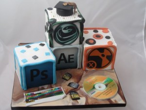 Graduation cake for Multimedia graduate