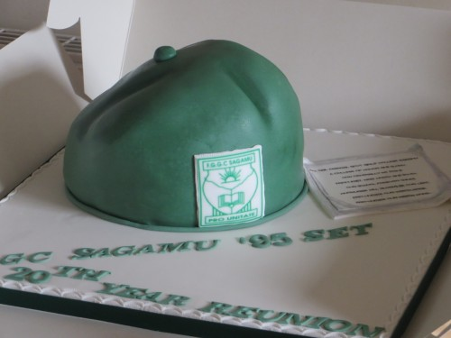 School Beret cake for a Secondary School Reunion