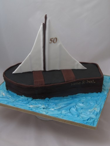 Sailing Dinghy cake in 3D
