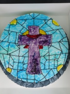 Stained Glass Cake for Easter