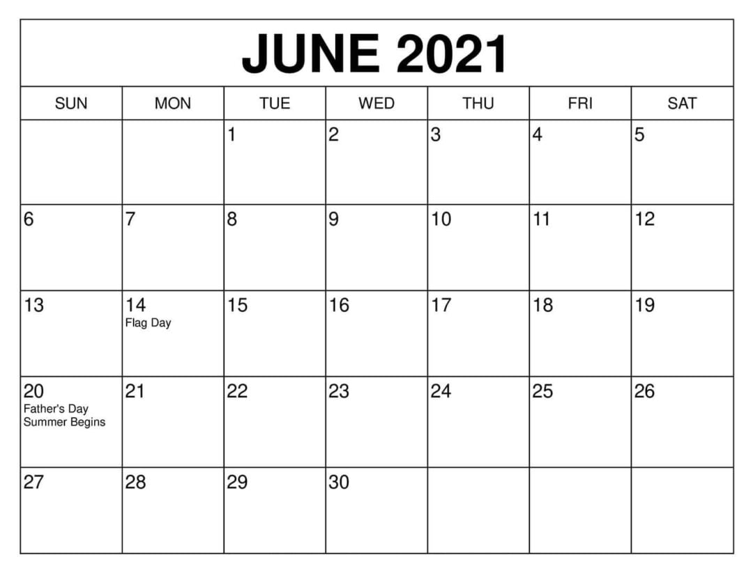 See your schedule and keep track of important dates and events with the best wall calendar. Blank June 2021 Calendar Make Schedule - Thecalendarpedia