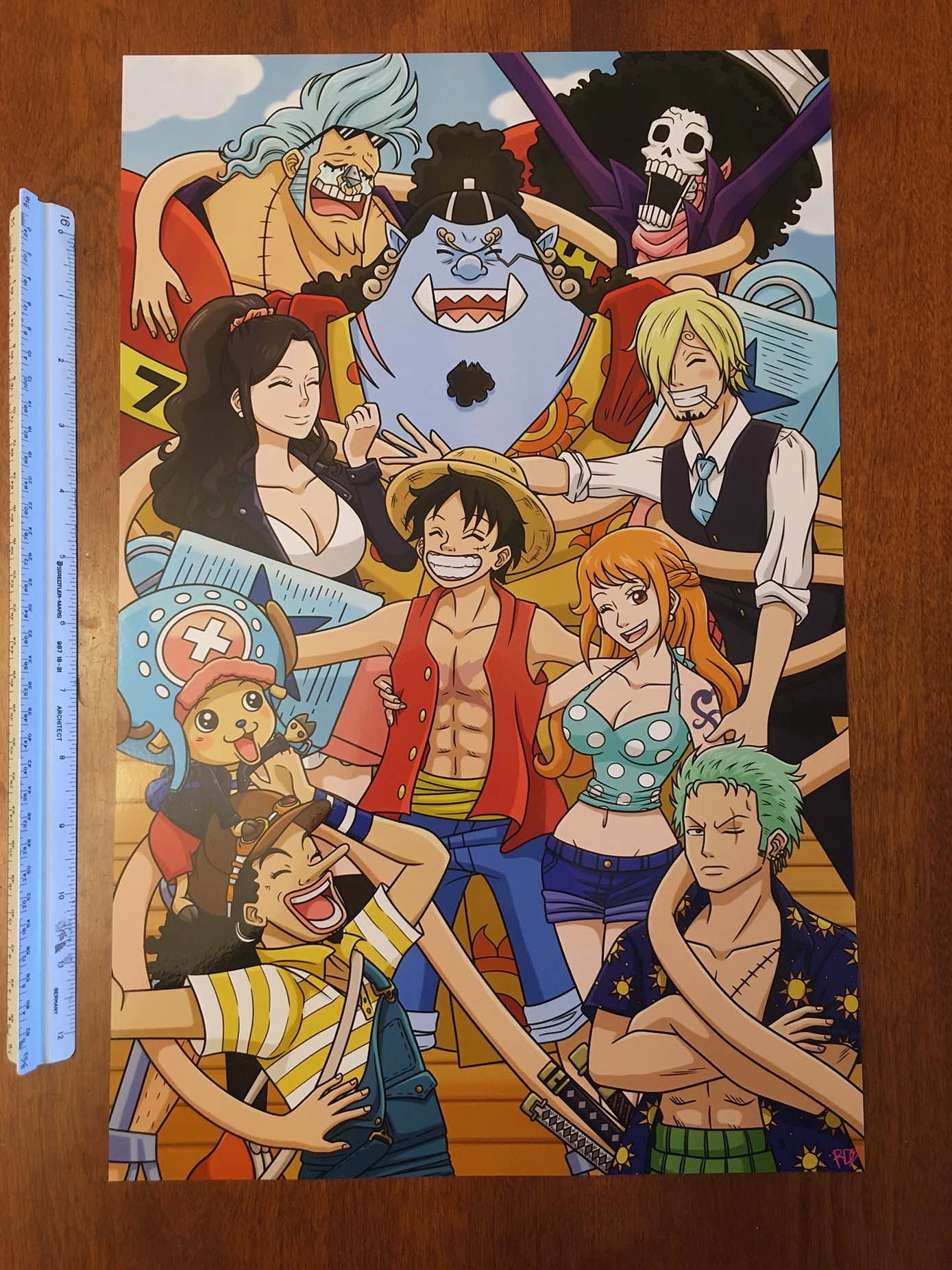 One Piece Straw Hat Crew Group Hug Print - The Calendork