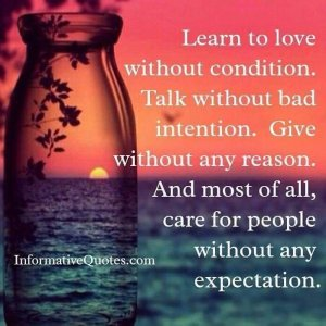 Care without expectation