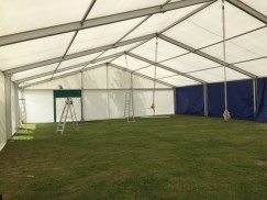 Setting up the Cambridge Roar marquee 2015