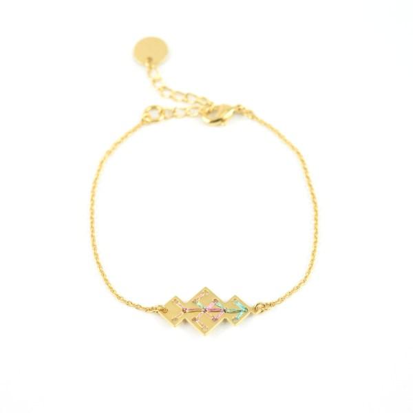 Bracelet Souika multicolore brillant