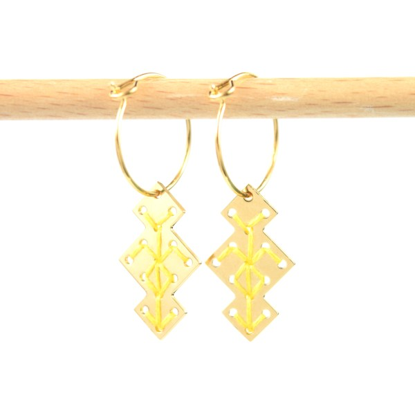 Créoles Souika jaune